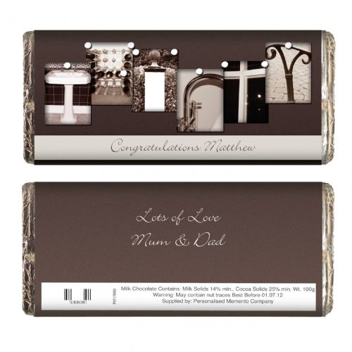 Personalised Affection Art Thirty Chocolate Bar